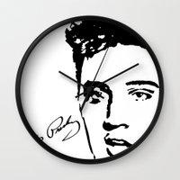 elvis Wall Clocks featuring Elvis! by John Medbury (LAZY J Studios)
