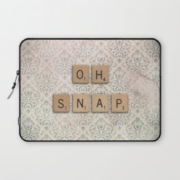 OH SNAP! Scabble Tile Wall Art Laptop Sleeve