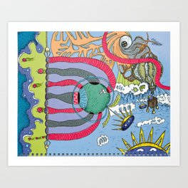 use your imagination Art Print