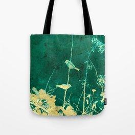 Yellow Birds on Vine Tote Bag