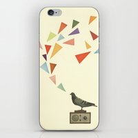 radio iPhone & iPod Skins featuring Pigeon Radio by Cassia Beck
