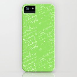 French Script on Lime Green iPhone Case