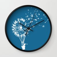 wind Wall Clocks featuring Going where the wind blows by Picomodi
