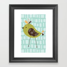 Green Tweetie Bird Framed Art Print