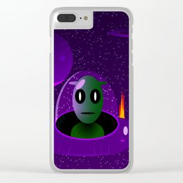 Alien space Clear iPhone Case