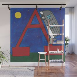 A is for Airstream Wall Mural