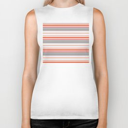 Orange Butterfly Coordinating Stripe Biker Tank