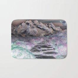 Cobble Stone Road Through The Mountains Towards Saturn Bath Mat