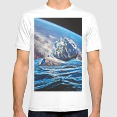 Planets Mens Fitted Tee White MEDIUM