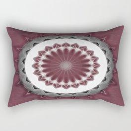 Mauve Kaleidoscope Art 1 Rectangular Pillow