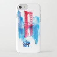 bridge iPhone & iPod Cases featuring Manhattan bridge by Robert Farkas