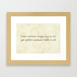 Riddles #2 Framed Art Print