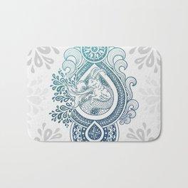Paisley Capricornus | Turquoise Blue Ombré Bath Mat