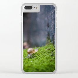 Eli the Snail by Althéa Photo Clear iPhone Case