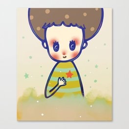 the little star in my heart Canvas Print