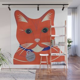 Cute Ginger Cat Wall Mural