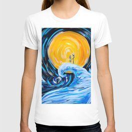 Starry Spiral Hill Night Painting T-shirt