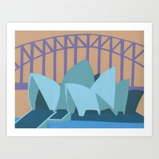 Sydney Harbor Bridge Art Print