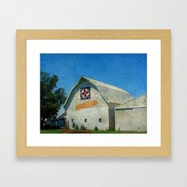 Rural Iowa Barn Framed Art Print