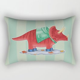 Triceratops in Boots Rectangular Pillow