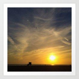 Redondo Beach California Sunset Art Print
