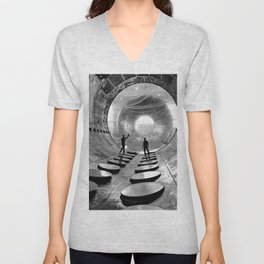 Interior of the 20-foot diameter vacuum tank at the NASA Lewis Research Centers Electric Propulsion Unisex V-Neck