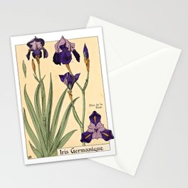 Maurice Verneuil - Iris germanique - botanical poster Stationery Cards