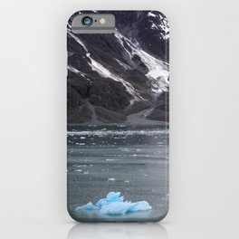 Alaska Snowy Mountain Cool Blue Icebergs iPhone Case