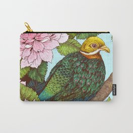 Whistling Fruit Dove in Spring Carry-All Pouch