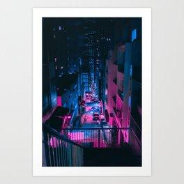 Cyberpunk Ciy Art Print