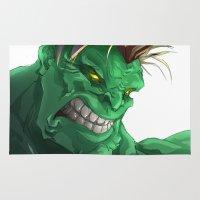 hulk Area & Throw Rugs featuring HULK by peocle