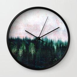 Deep dark forests Wall Clock