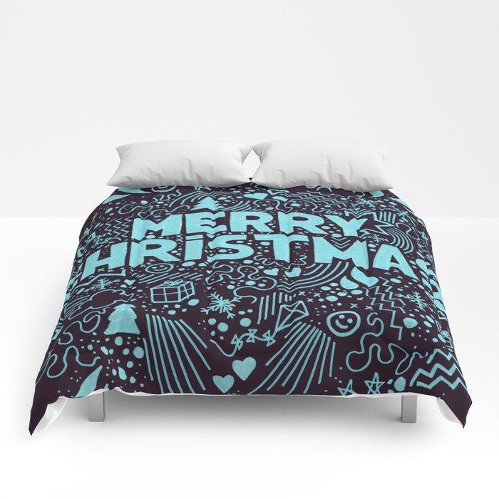 Merry Christmas Neon Comforters