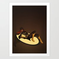 batgirl Art Prints featuring Batgirl by Sabrina Miramon