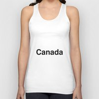 canada Tank Tops featuring Canada by linguistic94