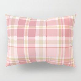 Pink Plaid Pillow Sham