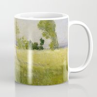 monet Mugs featuring Summer by Claude Monet by Palazzo Art Gallery