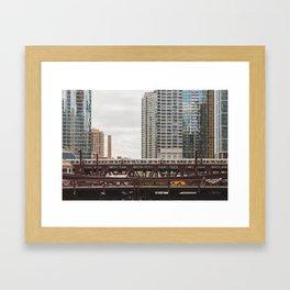 LaSalle Street - Chicago Photography Framed Art Print