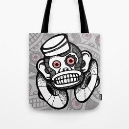 Creepy Cymbal-banging Monkey Tote Bag