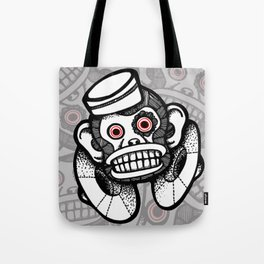 Creepy Cymbal-banging Monkey Tote Bag