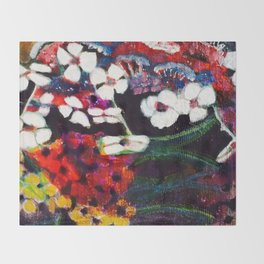 Spring Time Flowers - by Toni Wright Throw Blanket