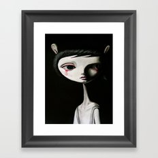 sad blood drop Framed Art Print