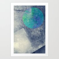 the moon Art Prints featuring moon by Claudia Drossert