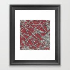 Sparkle Net Red Framed Art Print
