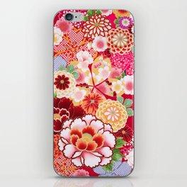 Red Floral Burst iPhone Skin