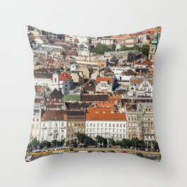 Budapest from Above Throw Pillow