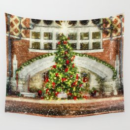 The Town Christmas Tree Wall Tapestry