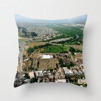 puerto rico Throw Pillows featuring Bayamon Puerto Rico by BravuraMedia