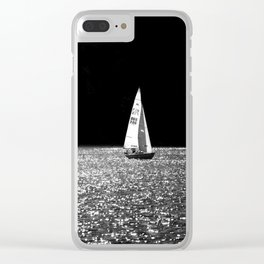 Sailing On The Lake Clear iPhone Case