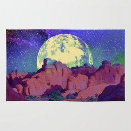 night desert landscape Rug